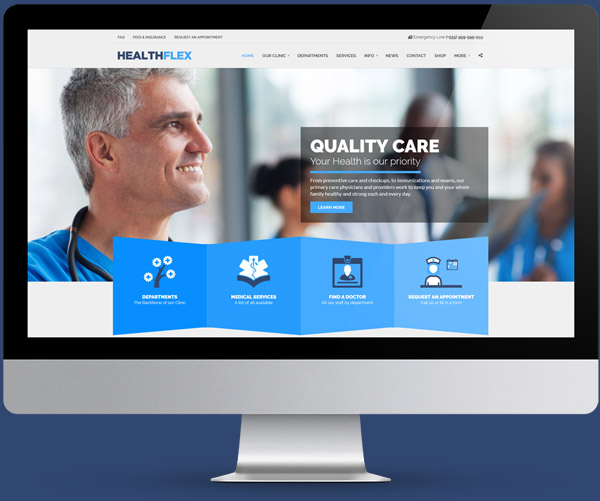 MEDICAL CLINIC Multi-page Site + WooShop Demo
